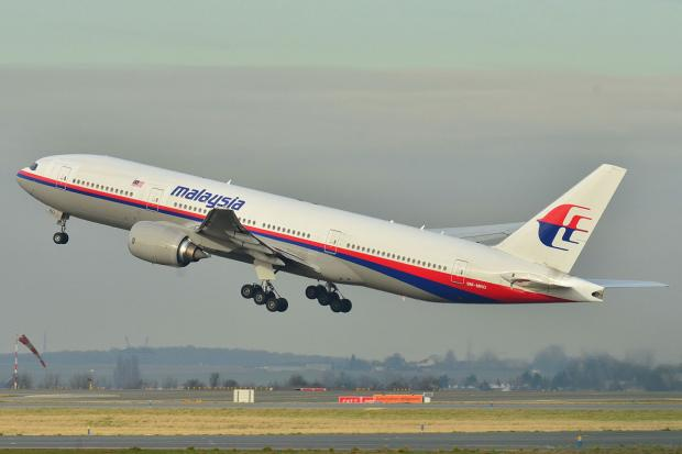 SECOND DISASTER: The incident brings tragedy to Malaysia Airlines for the second time this year. Above, the Malaysia Airlines 777-200 which went missing three months ago