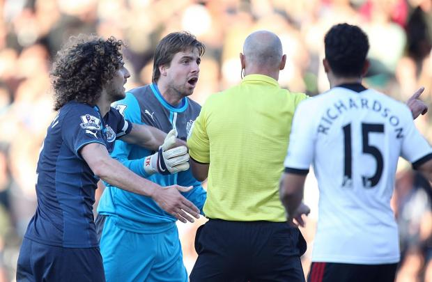 AWAY DAY WOE: Newcastle goalkeeper Tim Krul during Saturday's defeat at Fulham