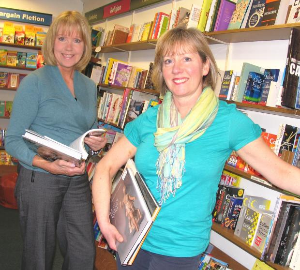 ACCOLADE: Caroline Nicholls, left, and Sue Lake, of White Rose BookCafe, Thirsk.