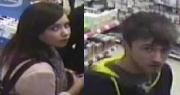 CCTV image of the pair police would like to trace..