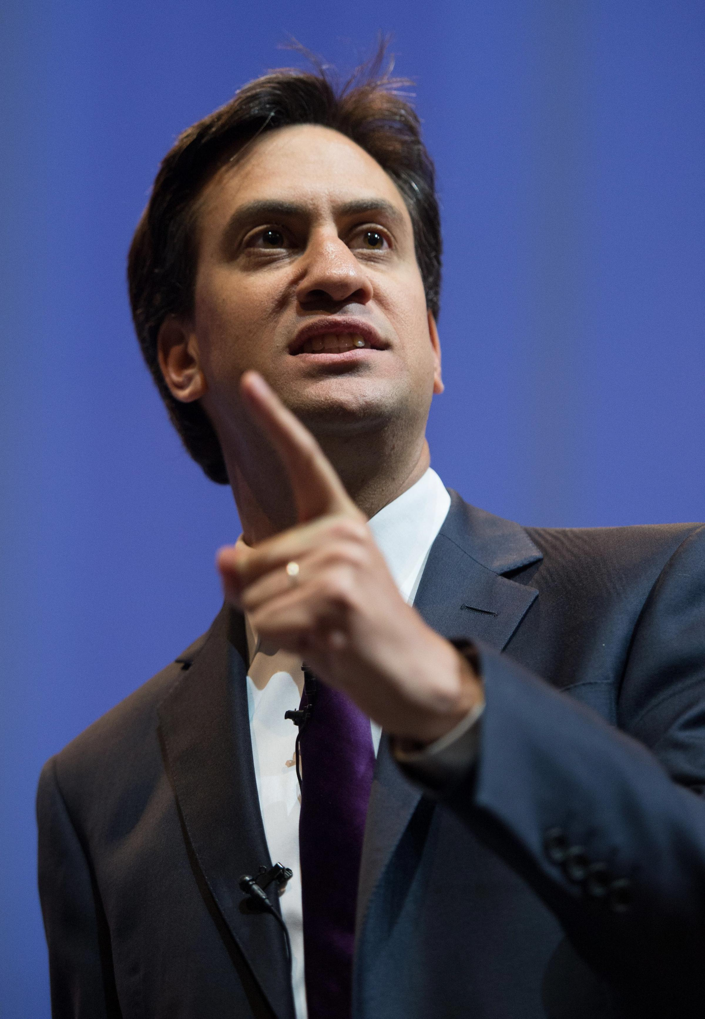 LIVING STANDARDS DOWN: Ed Miliband