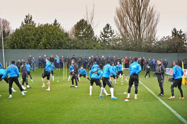 WATCHING BRIEF: A group of 27 local youth coaches were invited to attend a first-team training session at Newcastle United's Benton training ground