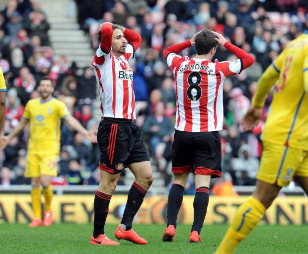 FRUSTRATION: Fabio Borini and Craig Gardner
