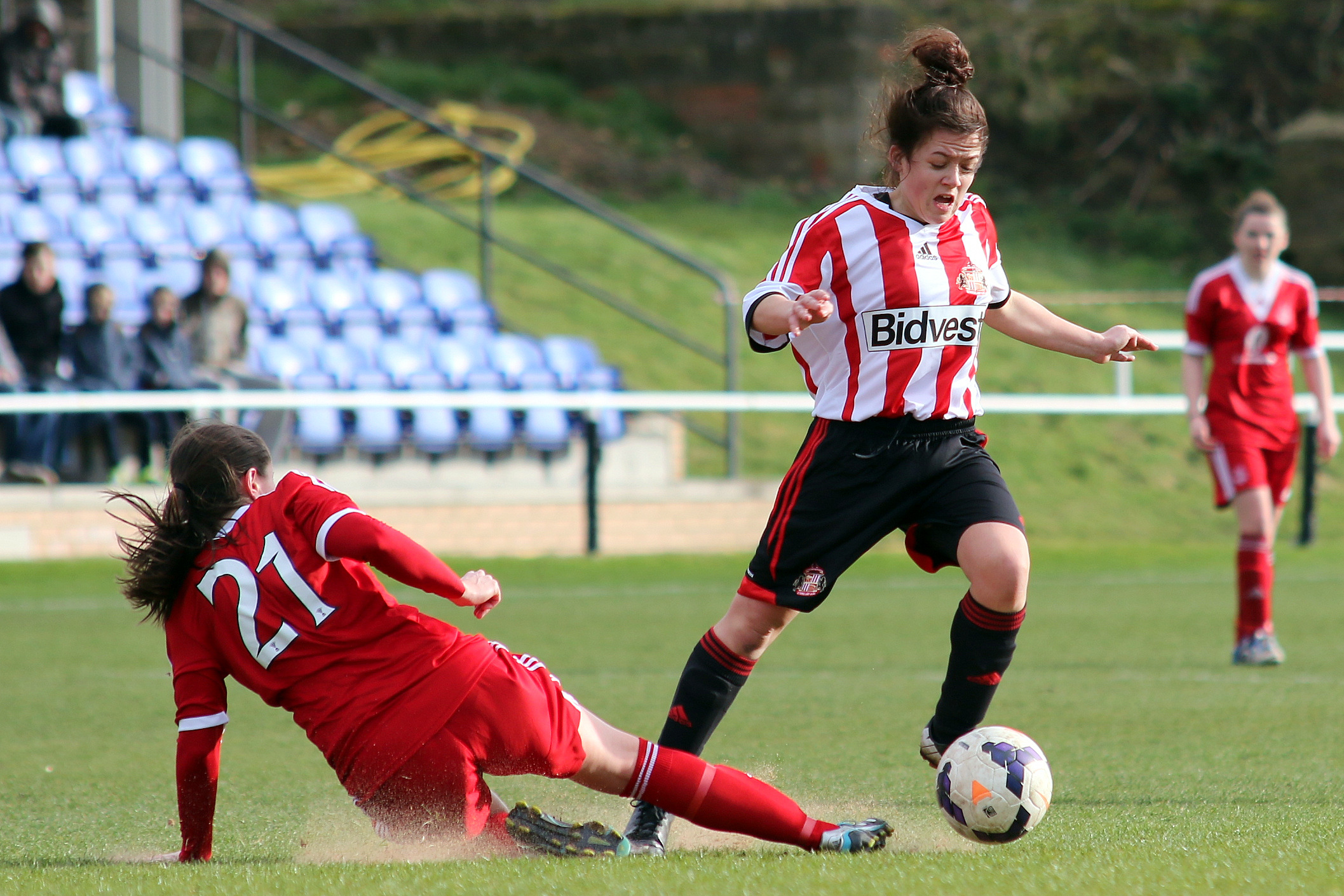 SEASON LOOMING: Abbey Joice in action for Sunderland during pre-season preparations