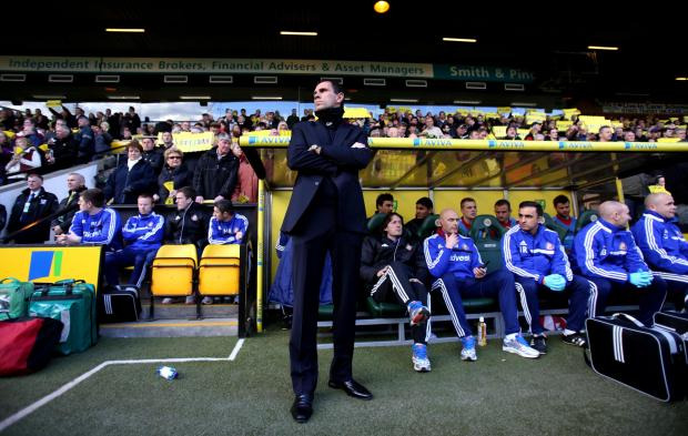 UNHAPPY MAN: Sunderland manager Gustavo Poyet during the Premier League defeat at Carrow Road on Saturday