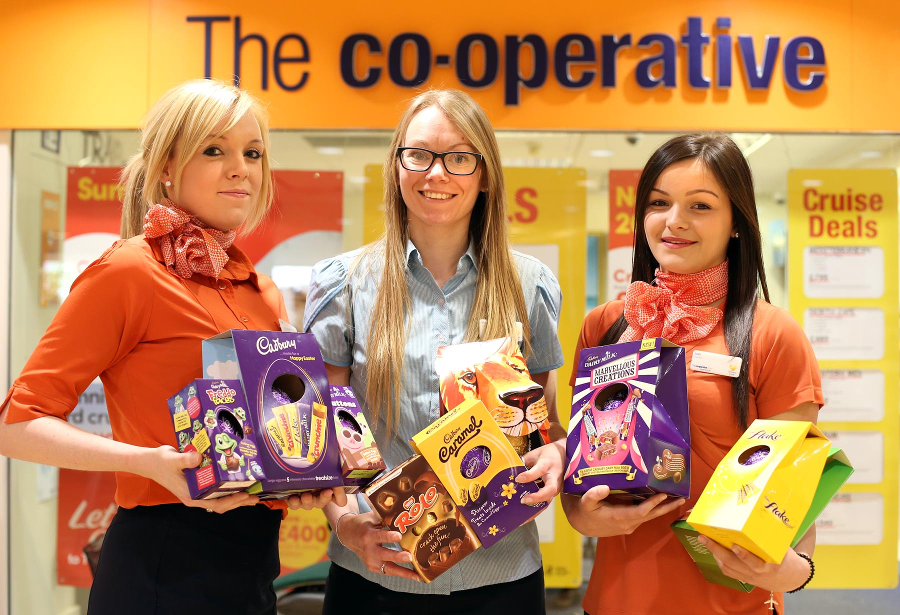 PUTTING A SMILE ON FACES: Co-operative Travel in Morrisons, in No