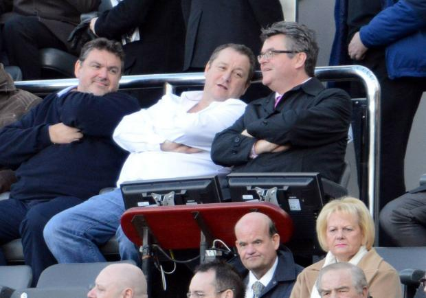 SHOWING HIS SUPPORT: Mike Ashley was watching Saturday's win over Palace