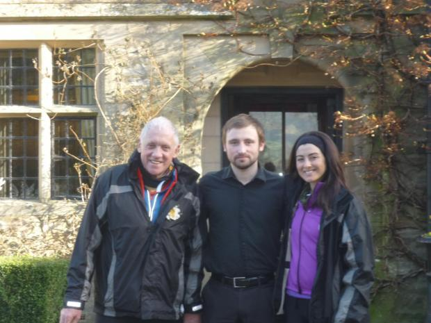 ON YOUR BIKE: From left, Harry Gration, Josh Westwood from Stone House Hotel and Amy Garcia
