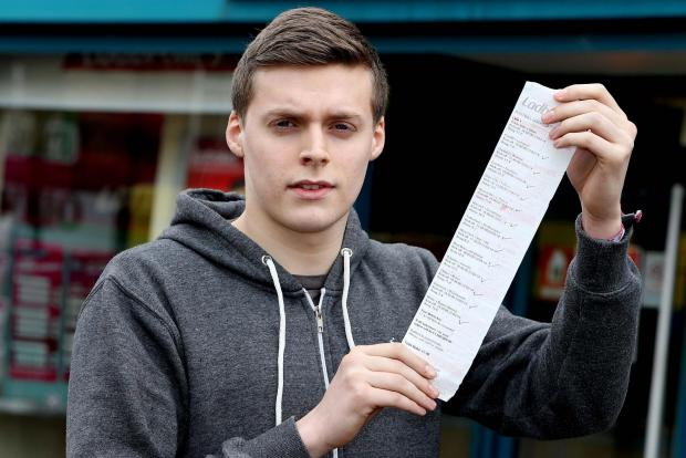 19-year-old Jordan Donnellan thought his luck was in when he correctly predicted the outcome of 14 football matches, but the County Durham barman's dreams were shattered with the discovery that he had scored a terrible own goal