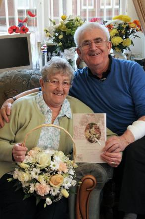 Diamond wedding anniversary for Edwin and Jean Piper
