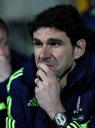 Progress: Aitor Karanka is encouraged by performances
