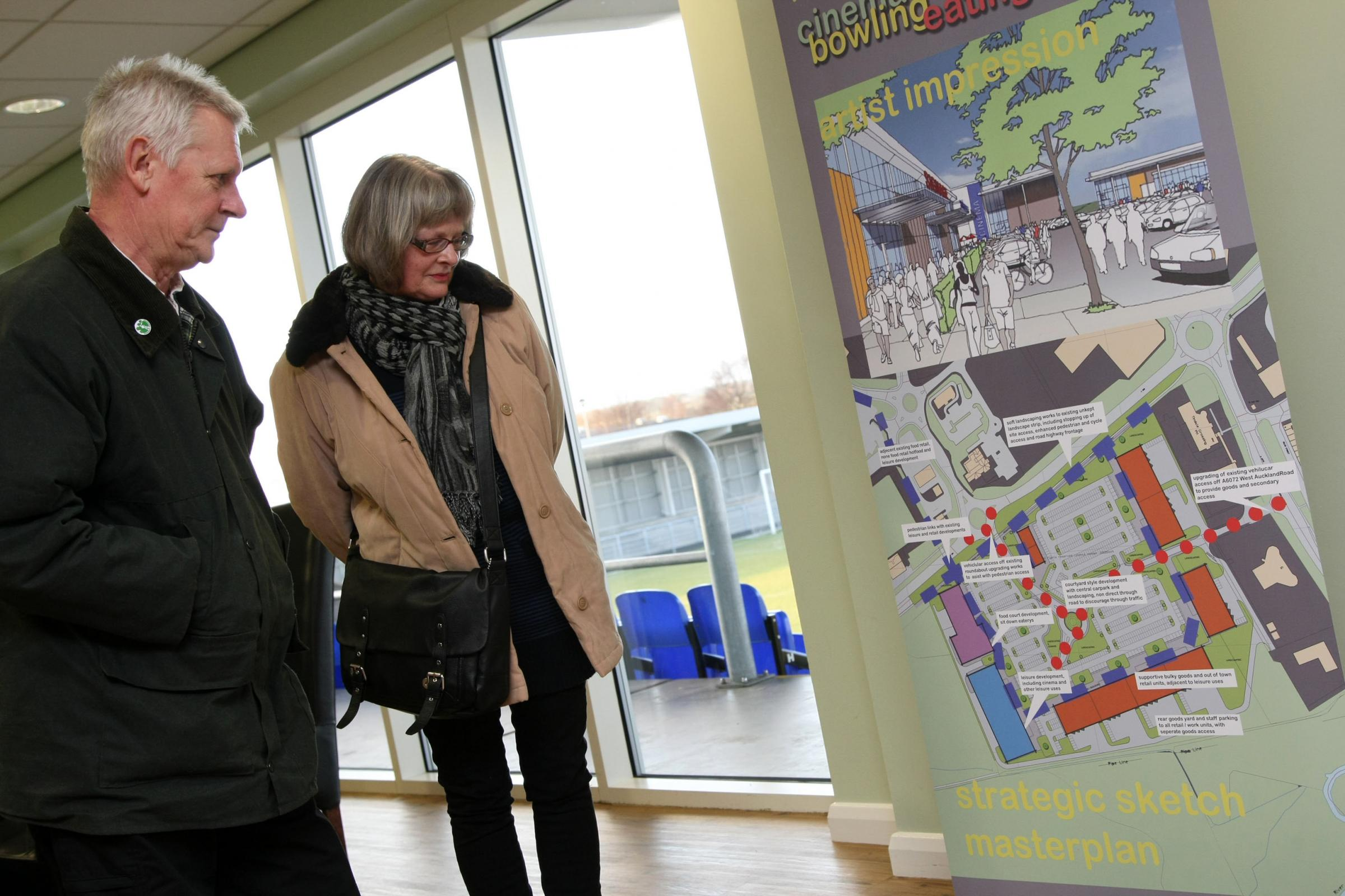 Residents survey the cinema plans at a public consultation held in 2012, the vast majority were in favour of the scheme