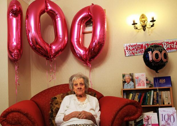 Betty Brownbridge, who has celebrated her 100th birthday