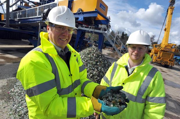 Ben Parnaby and father Adrian, who run the company alongside Ian Parnaby, are pictured at the firm's plant