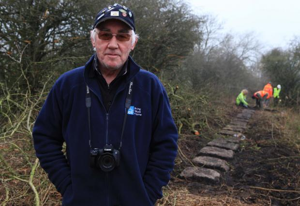 Fred Wright who has criticised work to clear the Brusselton Incline