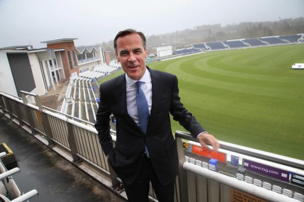 FACT FINDER: Mark Carney at the Durham County Cricket Club ground Picture: ANDY LAMB