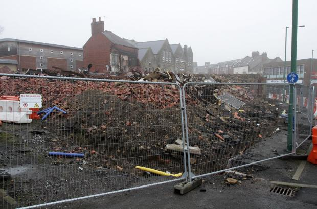 Rodents have been spotted in rubble on Front Street in Stanley