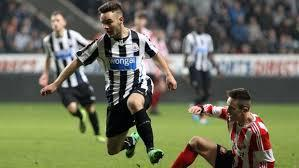 HOME DEBUT: Adam Armstrong will hope to be introduced from the bench when Newcastle entertain Manchester United this afternoon