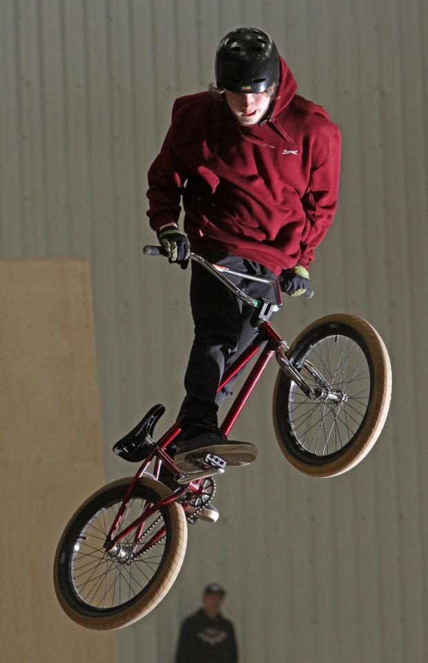 The Northern Echo: FREE WHEELING: A BMX rider at the new skate park in Darlington