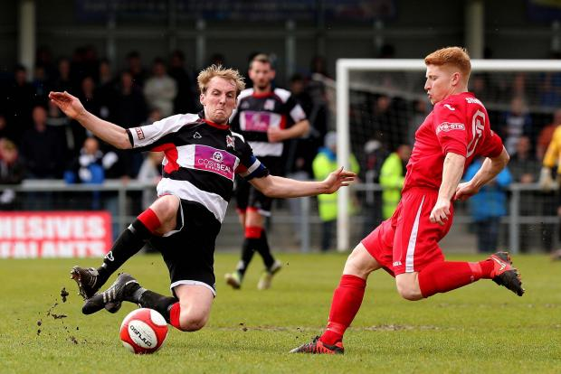 NO FEARS: Darlington captain Gary Brown