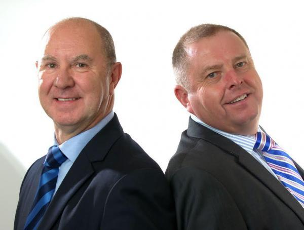 Mark Williams, left, and Ken Cross, who will run Arena Group's North-East office