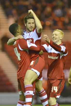 Keen to impress: Jacob Butterfield should keep his Boro place following his midweek display