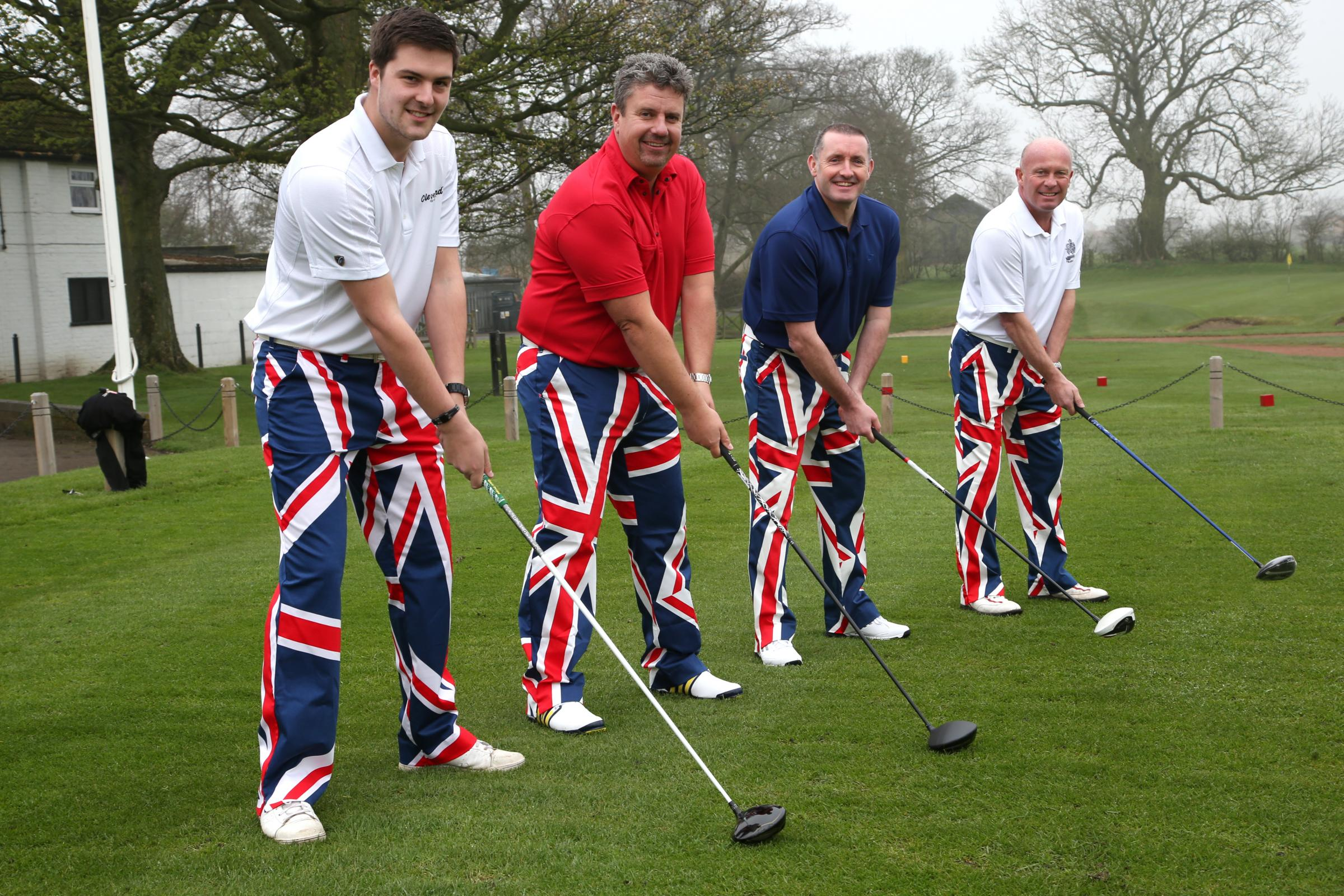 American way: Simon Calvert, Simon Jones, Tony Madelin and Richard Finch are heading for the last day's play at the US Masters