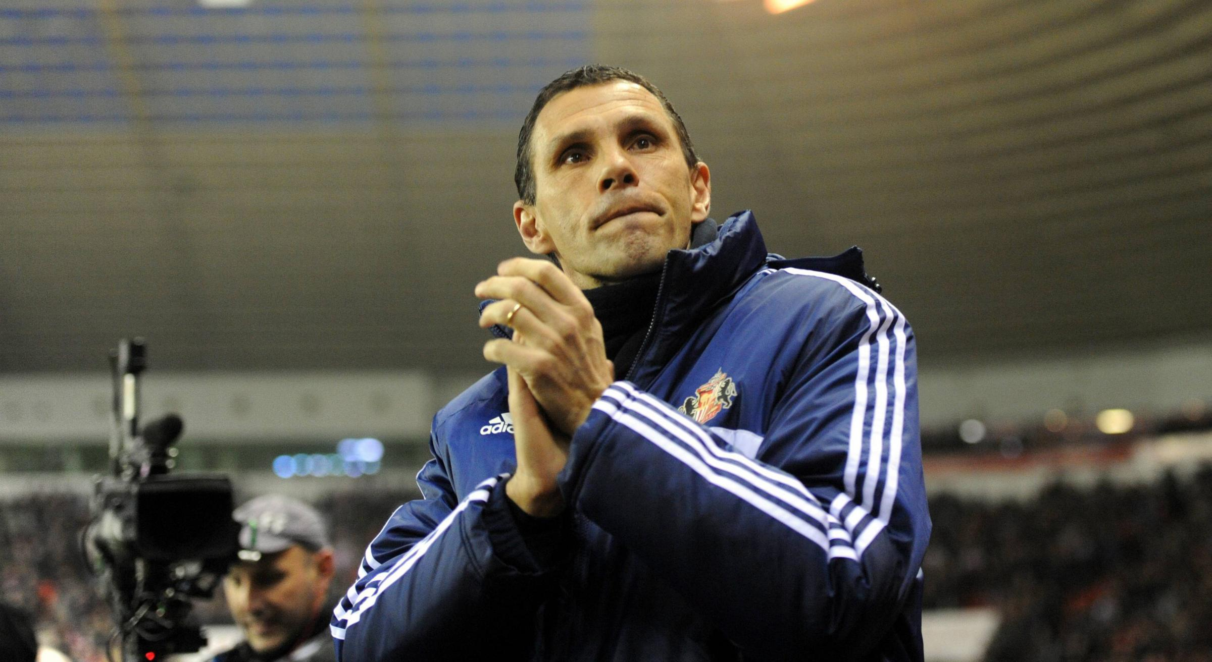 Focused: Gus Poyet has the backing from above