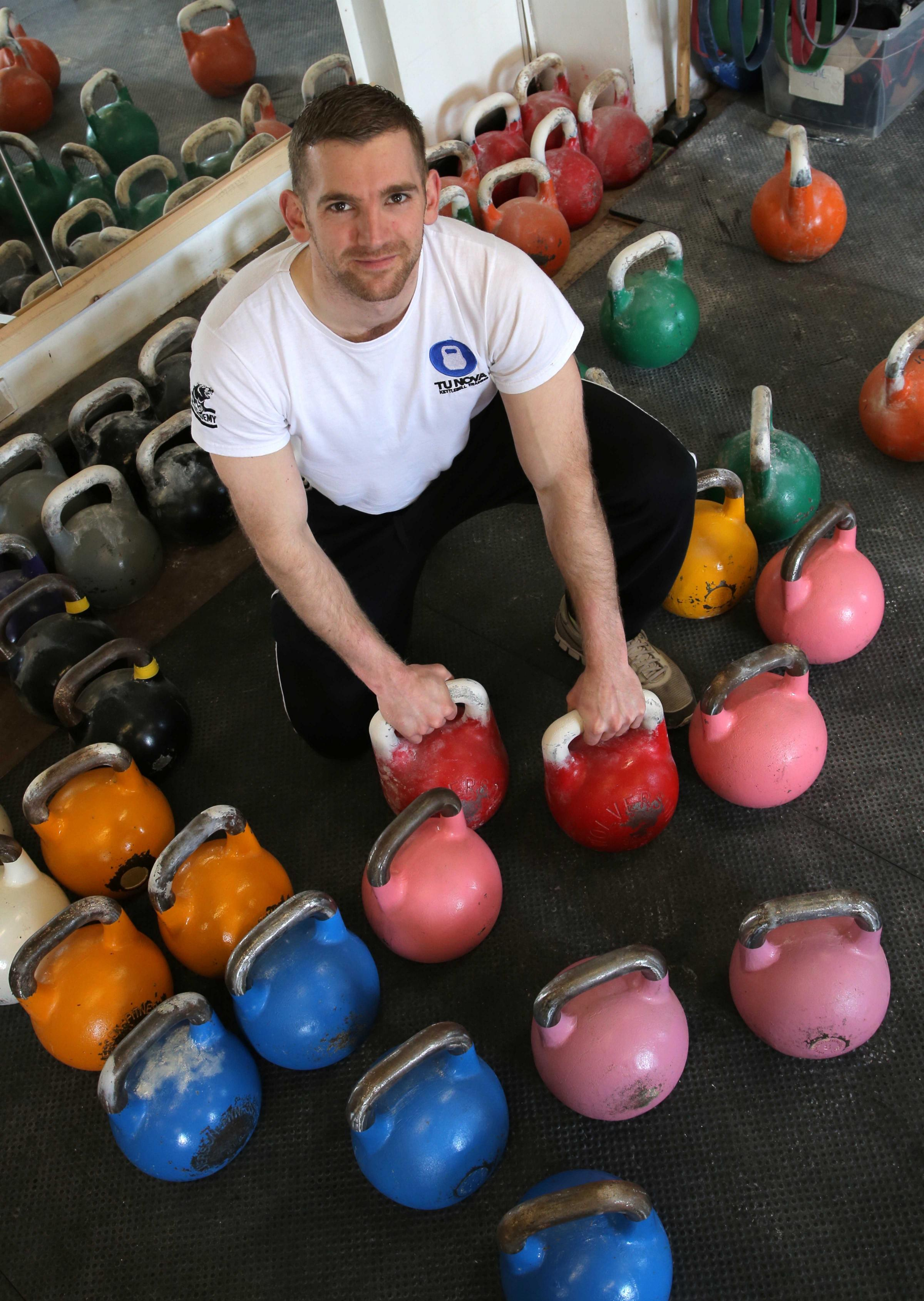 WEIGHTY CHALLENGE: Steve Gordon, from Darlington, is taking part in an international kettlebell contest