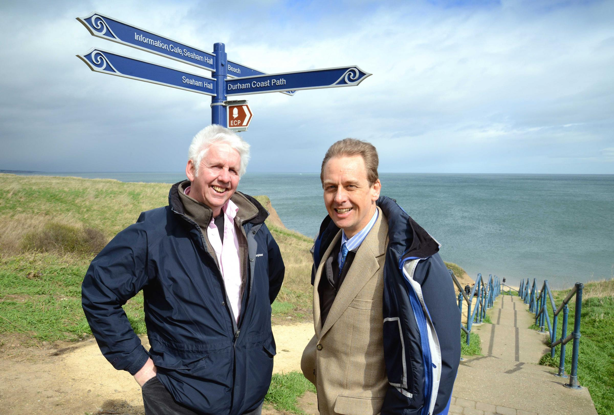 Niall Benson (left), Heritage Coast Officer from Durham Heritage Coa