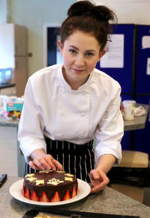 FINISHING TOUCH: Apprentice chef Ruth Hansom