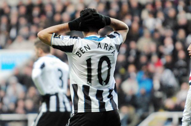 COME IN NUMBER TEN: Newcastle fans are clamouring for the return of Hatem Ben Arfa to the team but manager Alan Pardew is far from convinced that the midfielder deserves a starting berth