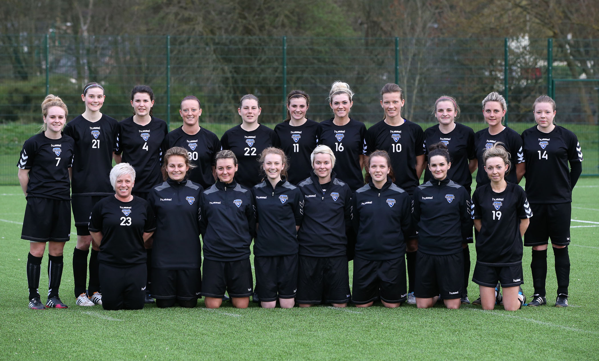 NEW ERA: New team Durham Women pictured at the Graham Sports Centre, Maiden Castle, in Durham. They start their season on Thursday against Sunderland.