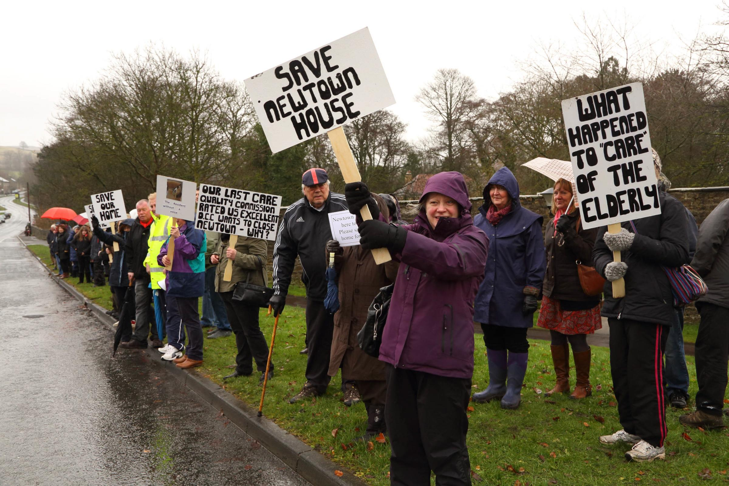 CLOSURE VOTE: A previous protest to save Newtown House care home in Stanhope