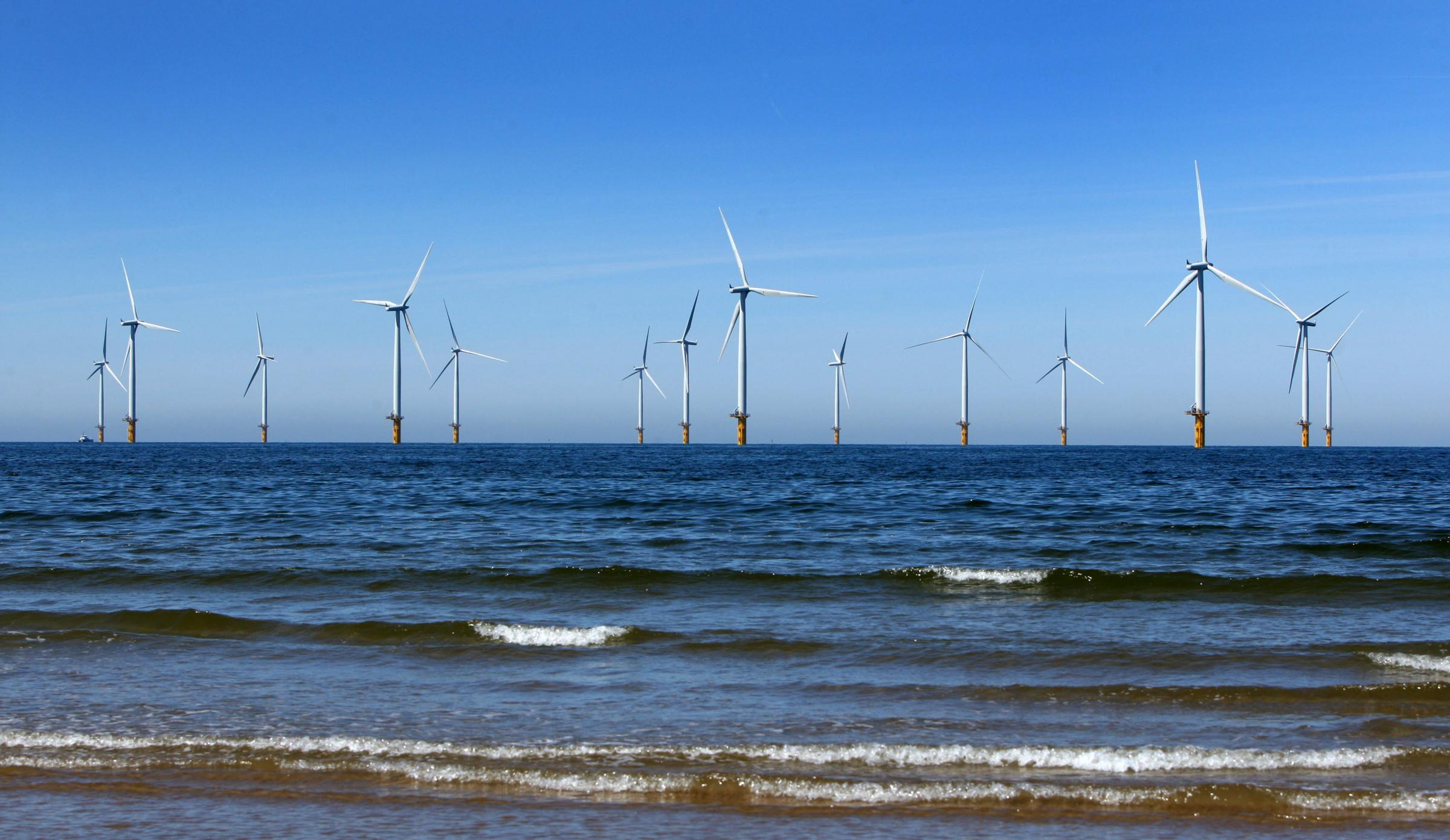 The Teesside wind farm, off the coast of Redcar