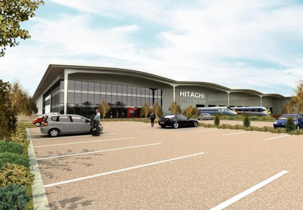 ARTIST'S VIEW: An impression of the new Hitachi Rail Europe plant, in Newton Aycliffe