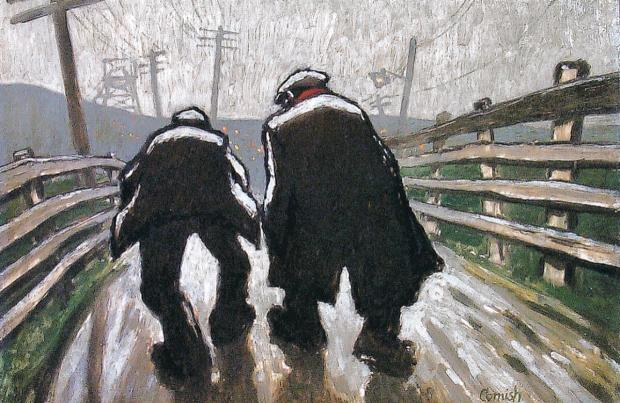 The Northern Echo: Pit Road by Norman Cornish (Gemini Collection).