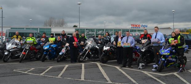 Bikers will start the run from Tesco at Dragonville, Durham