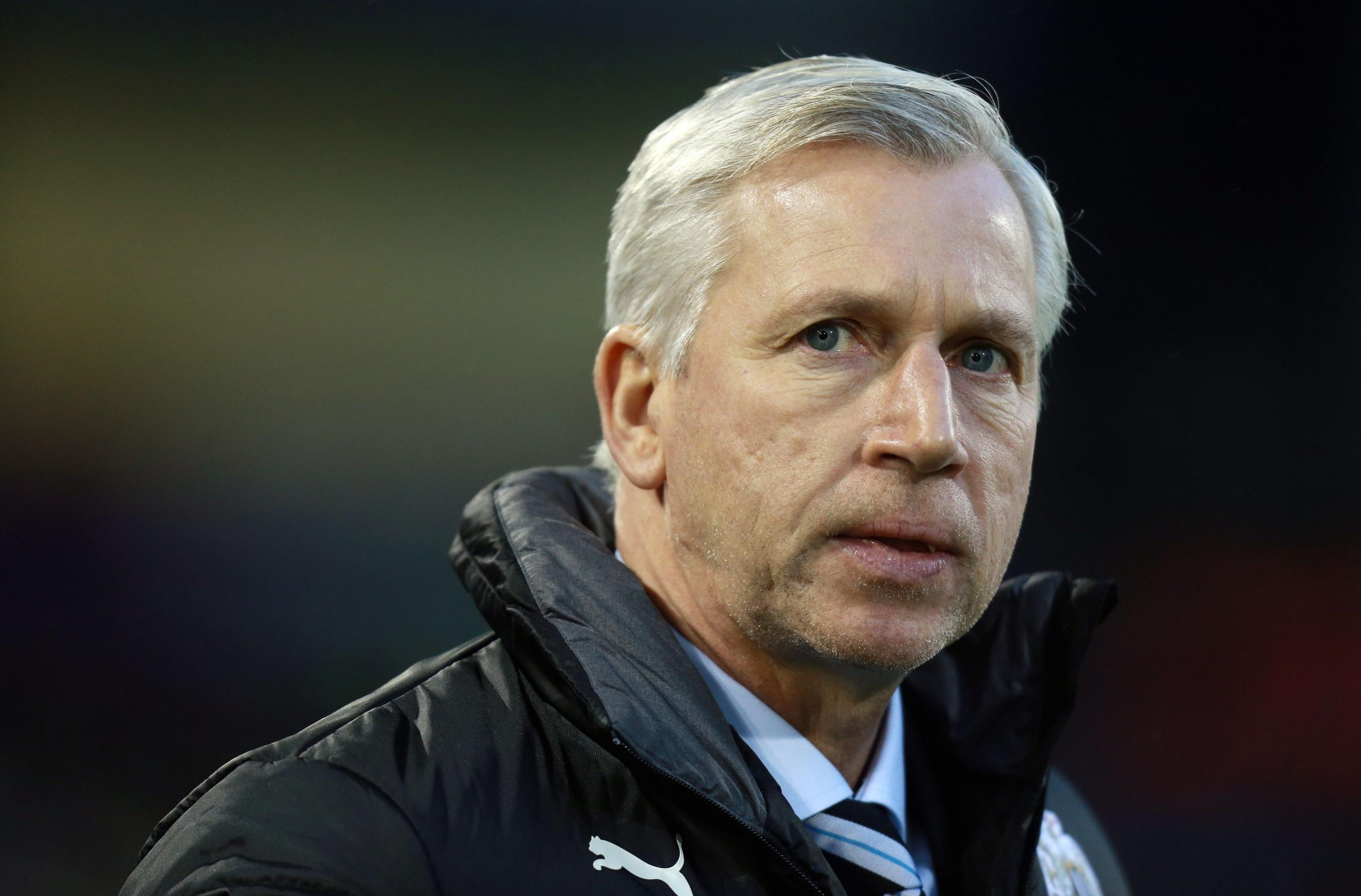 HE'S BACK: Alan Pardew made his return to the dug-out on Monday night after serving a seven-match touchline ban
