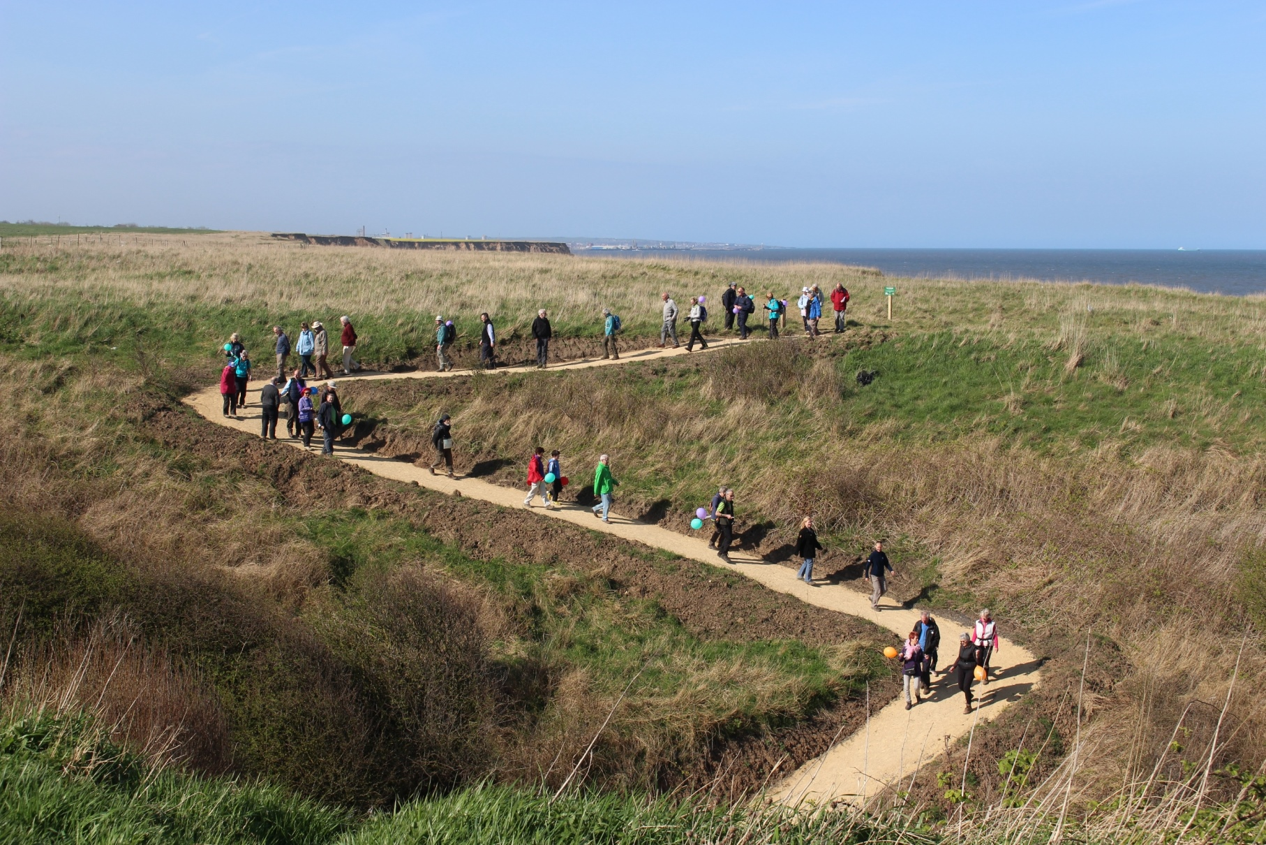 Ramblers take in section of new coastal path in the North-East