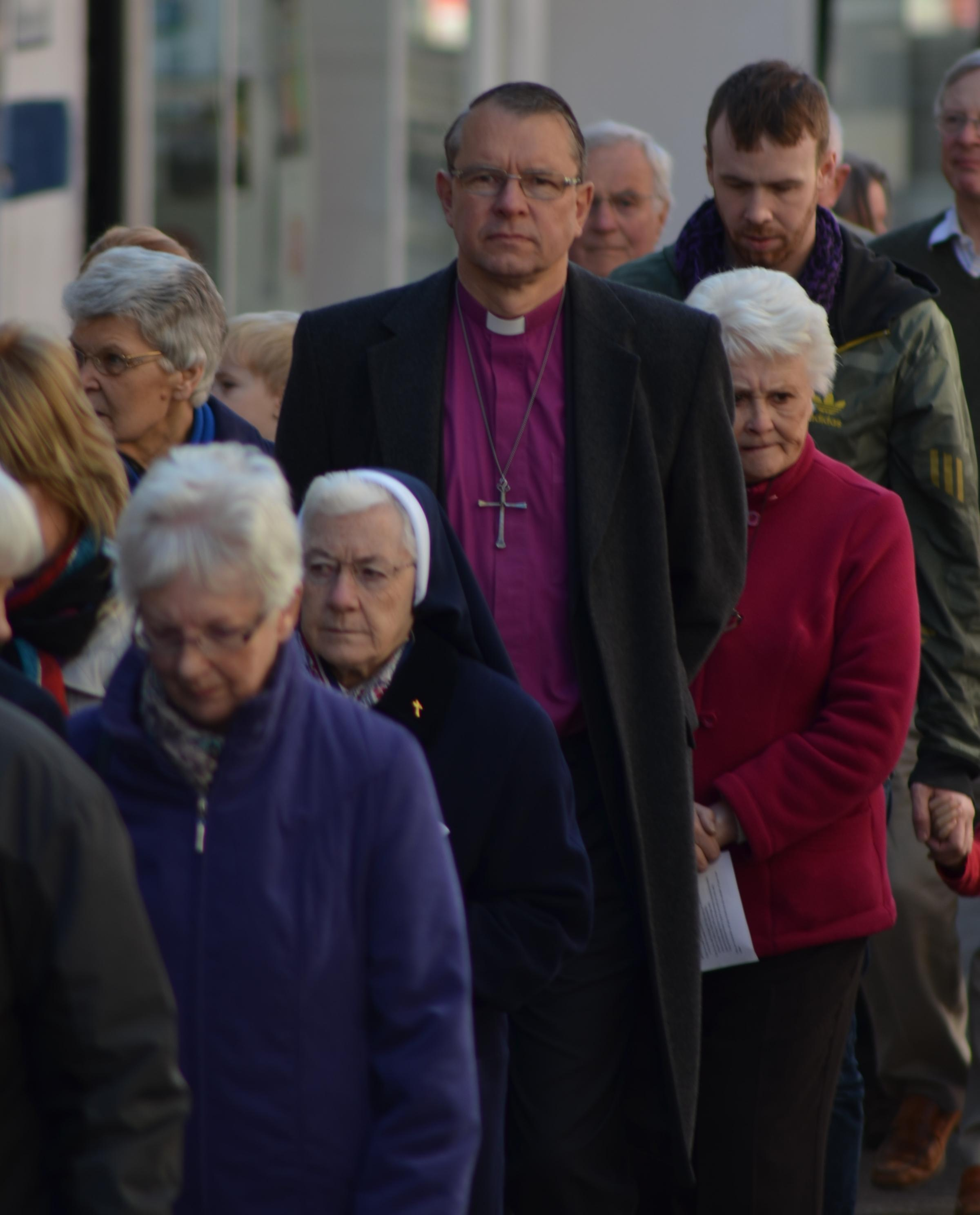 Bishop of Durham takes his place in Good Friday Walk of Witness