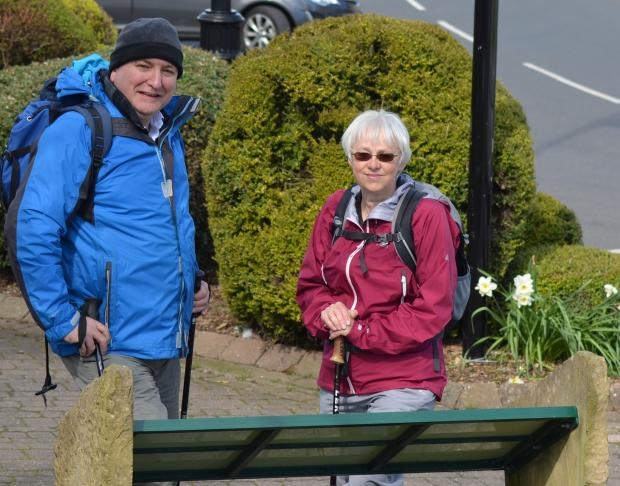WALKING CHALLENGE: Ian Tallentire and Lynda Bares, of the Upper Teesdale Tourism Network