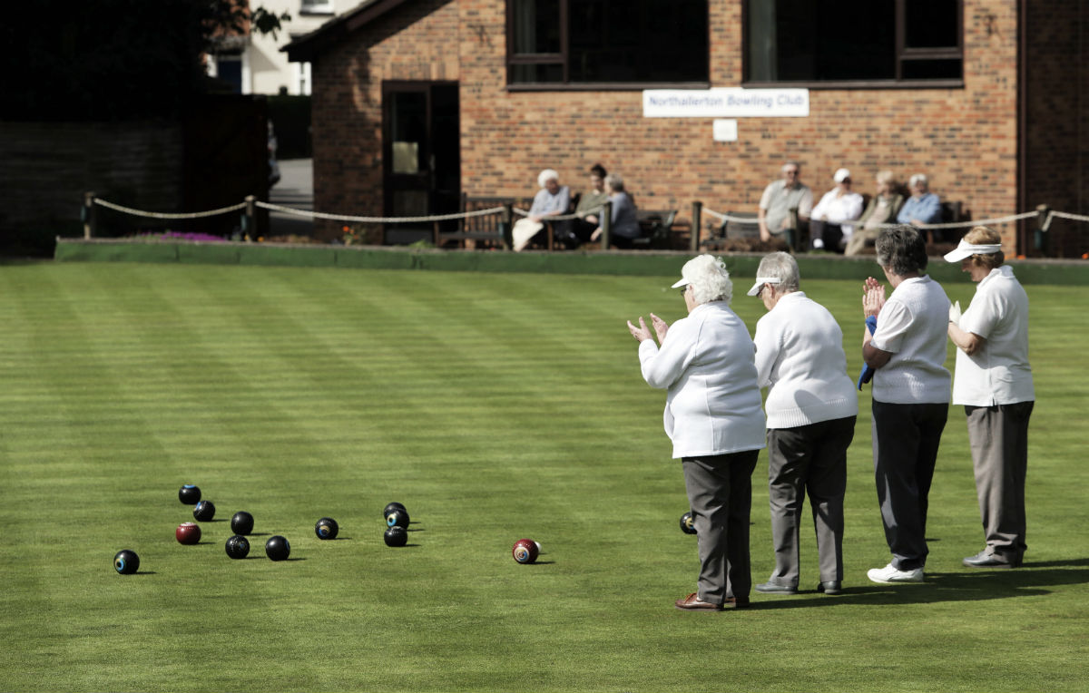 Northallerton Bowling Club is encouraging more families and young people to try out the game after securing funding. Picture by Stuart Boulton