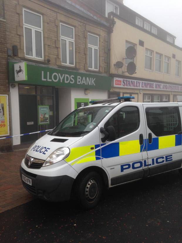 The Northern Echo: Police begin investigation at scene of town centre bank robbery in Stanley