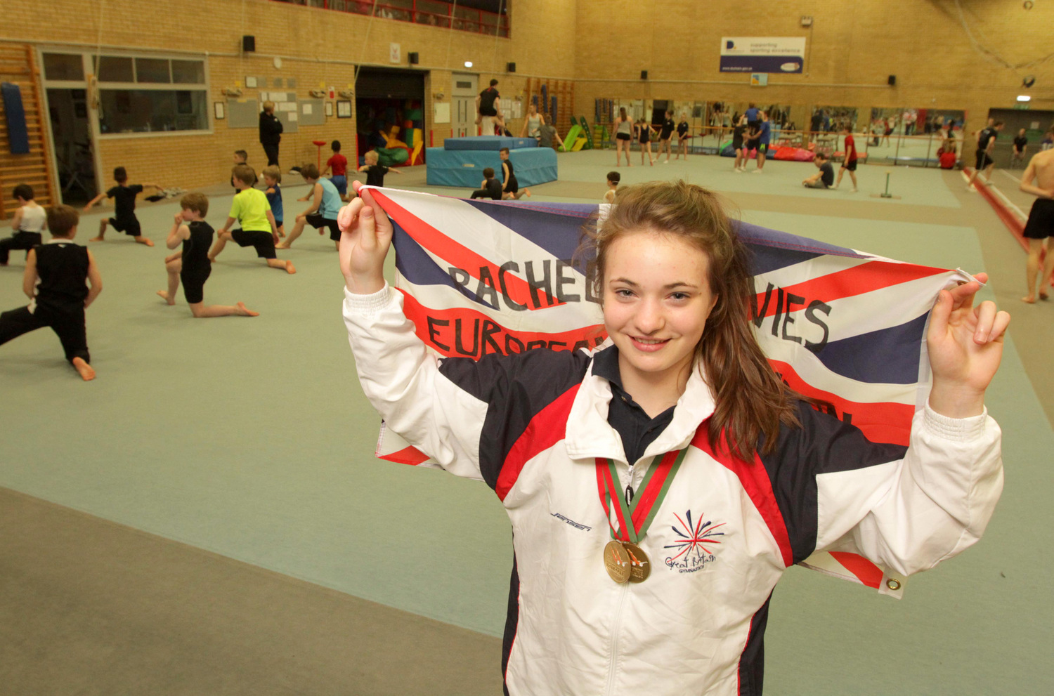 MAKING AN IMPRESSION: Rachel Davies enjoyed a successful European Championships, winning two gold medals