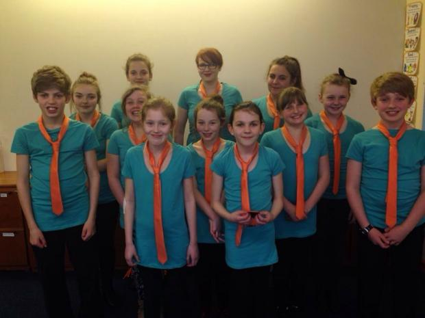 The dance students who are heading for Disneyland Paris.
