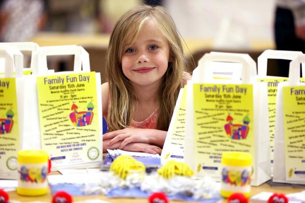 Tegan Ross, eight, at last year's Liver Disease Foundation fun day