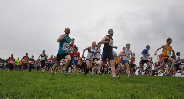 The first leg of runners set off at the Neptune Relays in Sedgefield