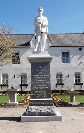 Ferryhill war memorial which has under gone a facelift
