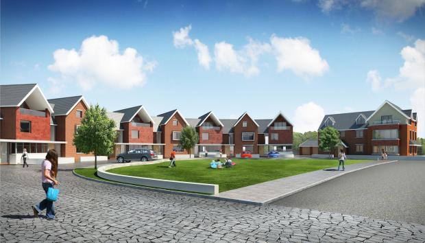 An artist's impression of how the residential development near Beacon Lane could look